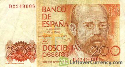 200 Spanish Pesetas banknote (Leopoldo Garcia-Alas)