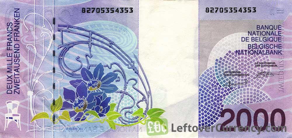 2000 Belgian Francs banknote (Victor Horta)