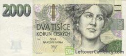 2000 Czech Koruna banknote series 1999