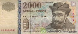 2000 Hungarian Forints banknote (Prince Gabor Bethlen)