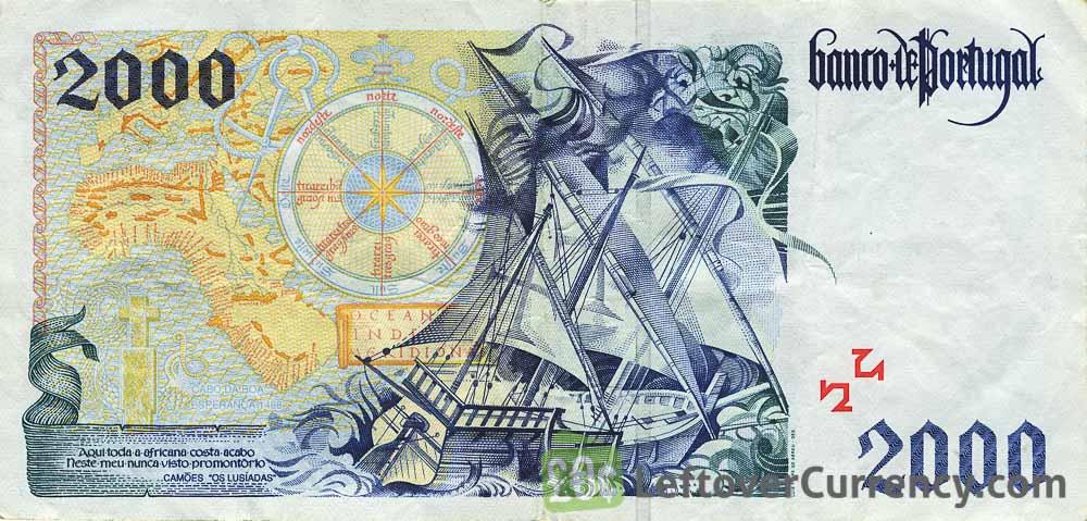 2000 Portuguese Escudos banknote (Bartholomeu Dias 1995)