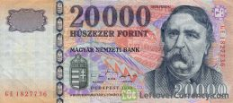 20000 Hungarian Forints banknote (Ferenc Deak)