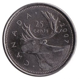 25 Cents coin Canada (quarter)