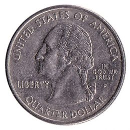 25 Cents coin United States Dollar (quarter)