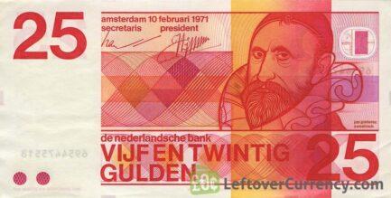 25 Dutch Guilders banknote (Sweelinck 1971)