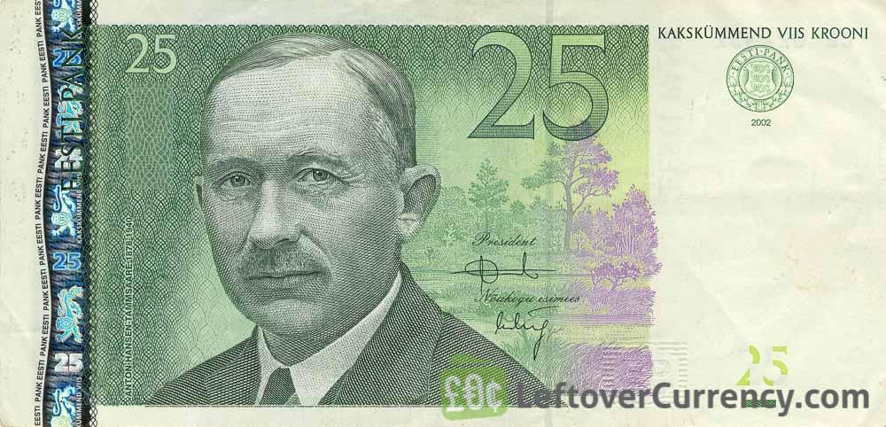25 Estonian Krooni banknote (Anton Hansen-Tammsaare)