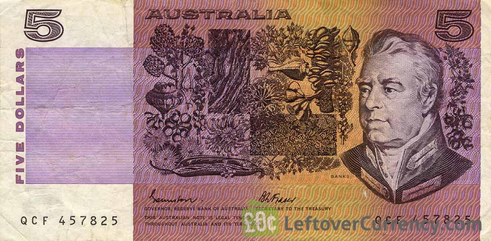 5 Australian Dollars banknote series 1974