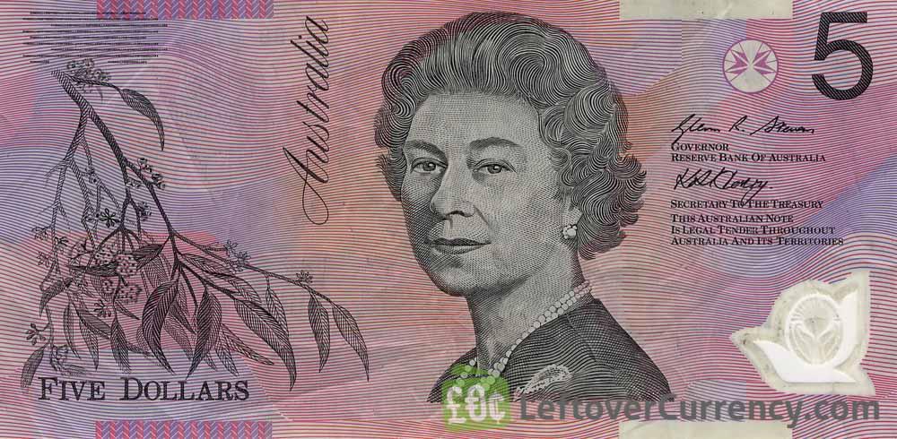 5 Australian Dollars banknote series 1992