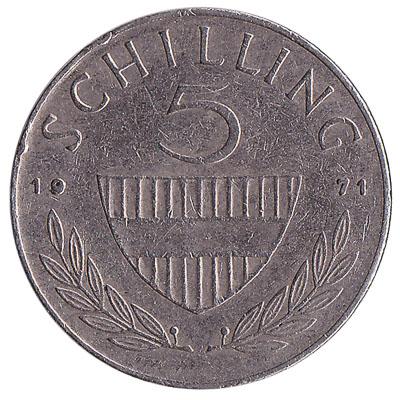 5 Austrian Schilling coin
