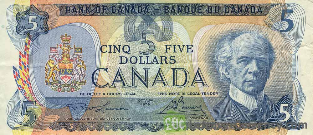 5 Canadian Dollars banknote (Vancouver Island Scenes of Canada)