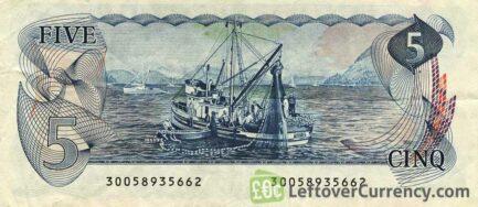 5 Canadian Dollars banknote (Vancouver Island Scenes of Canada)