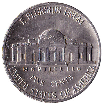 5 Cents coin United States Dollar (nickel)