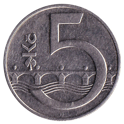 5 Czech Koruna coin