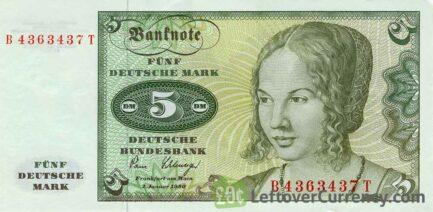 5 Deutsche Marks banknote (Venezianerin)