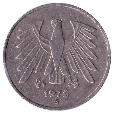 5 Deutsche Marks coin
