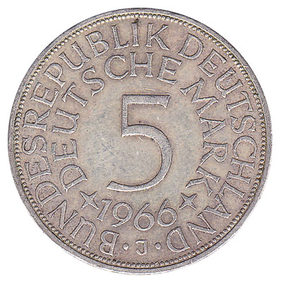 5 Deutsche Marks coin (type 1951)