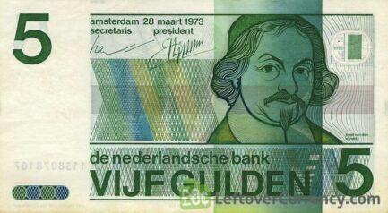 5 Dutch Guilders banknote (Vondel 1973)