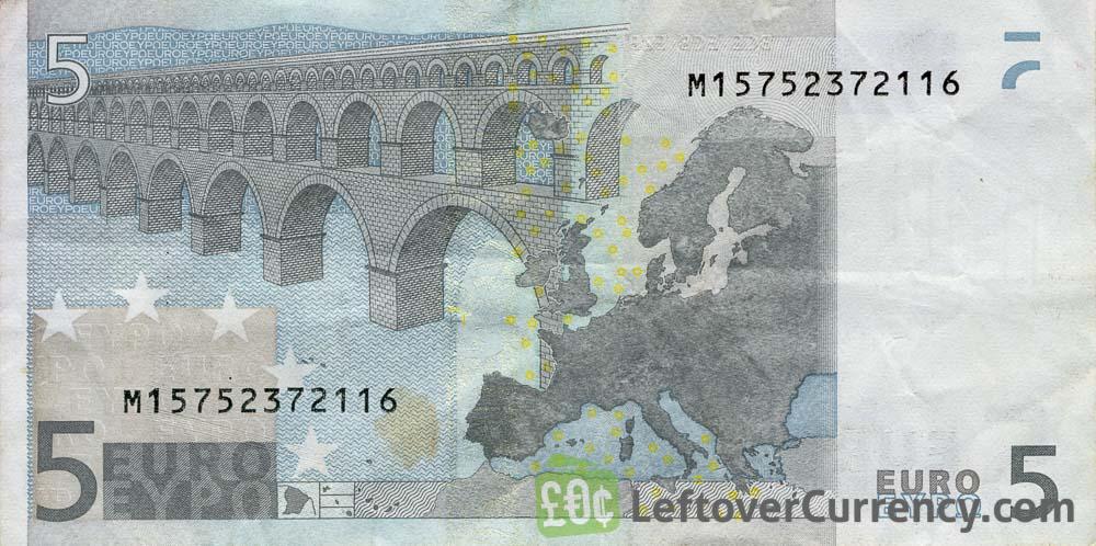 5 Euros banknote (First series)
