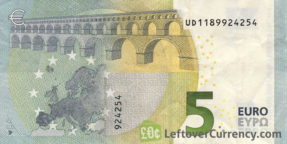 Image result for 5 euro note