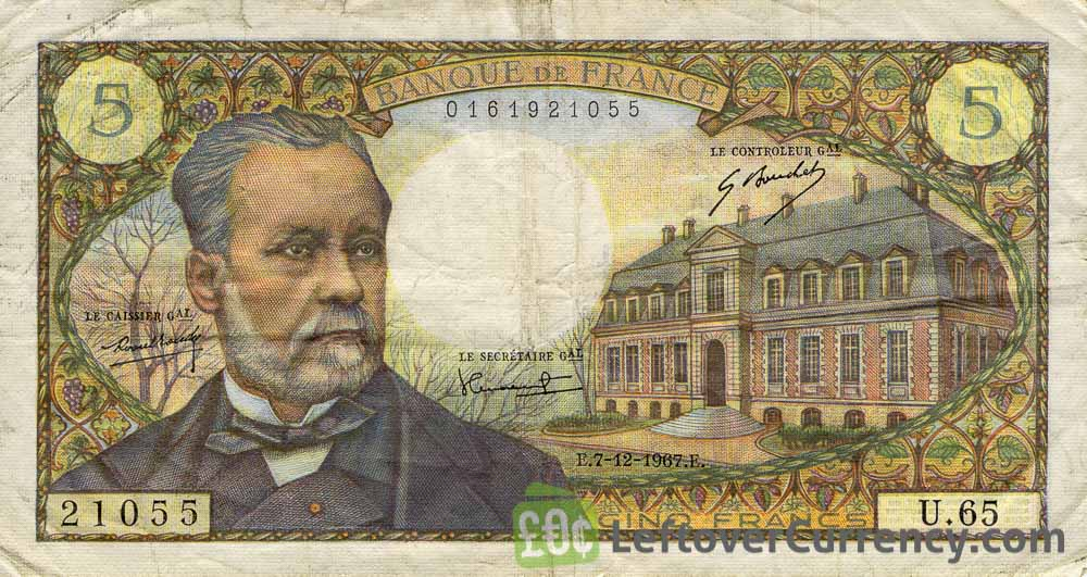 5 French Francs banknote (Louis Pasteur)
