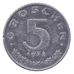 5 Groschen coin Austria