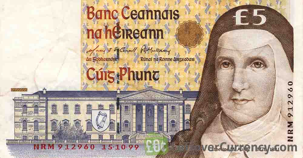 5 Irish Pounds banknote (Sister Catherine McAuley)