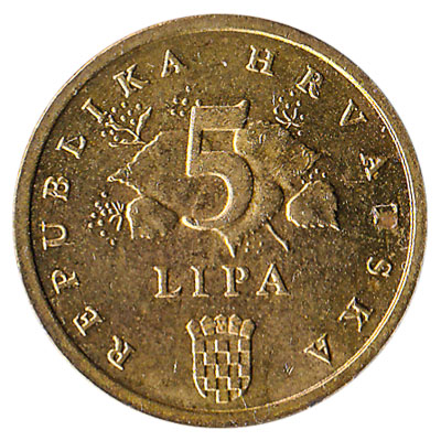 5 Lipa coin Croatia