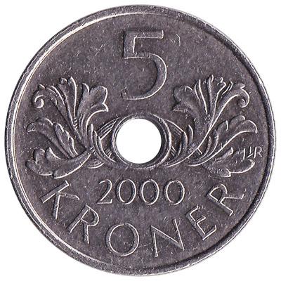5 Norwegian Kroner coin