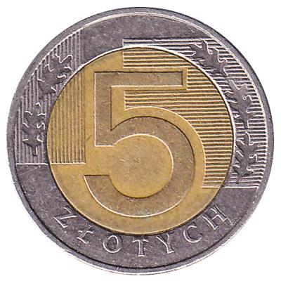 5 Polish Zloty coin
