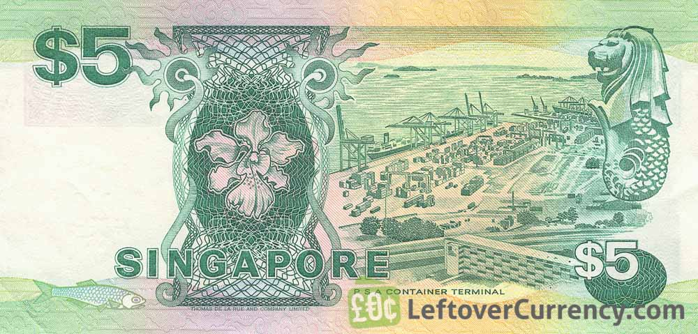 5 Singapore Dollars banknote (Ships series)