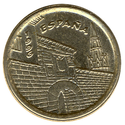 5 Spanish Pesetas coin