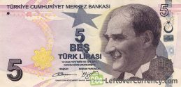 5 Turkish Lira banknote (9th emission group 2009)