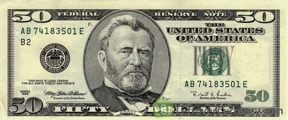 50 American Dollars banknote series 1996