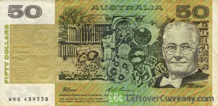 50 Australian Dollars banknote (Lord Howard Walter Florey)