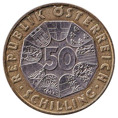 50 Austrian Schilling coin