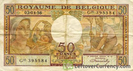 50 Belgian Francs Treasury banknote (Buisseret)