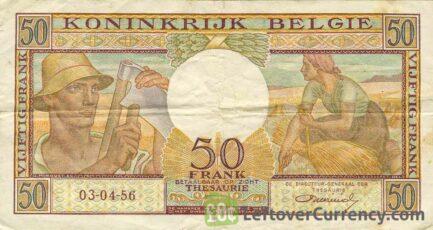 50 Belgian Francs Treasury banknote (Buisseret)