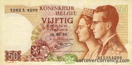 50 Belgian Francs Treasury banknote (Royal couple)