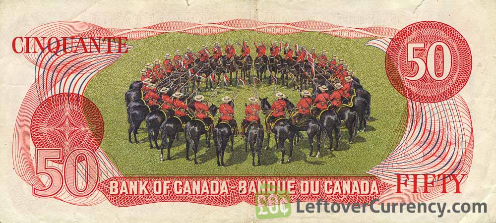 50 Canadian Dollars banknote (mounted police Scenes of Canada)