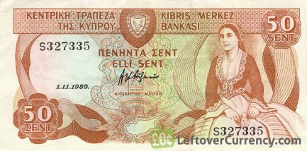 50 Cents banknote Cyprus