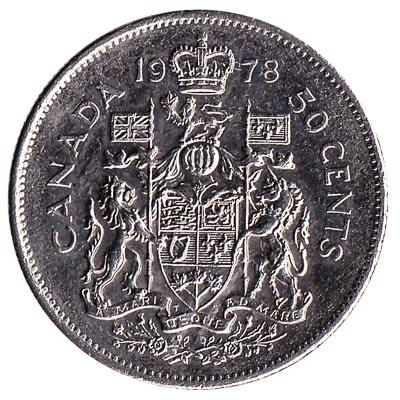 50 Cents coin Canada (half dollar)