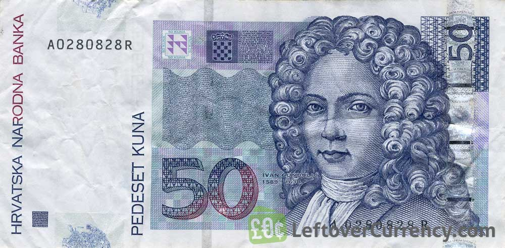 50 Croatian Kuna banknote series 2002