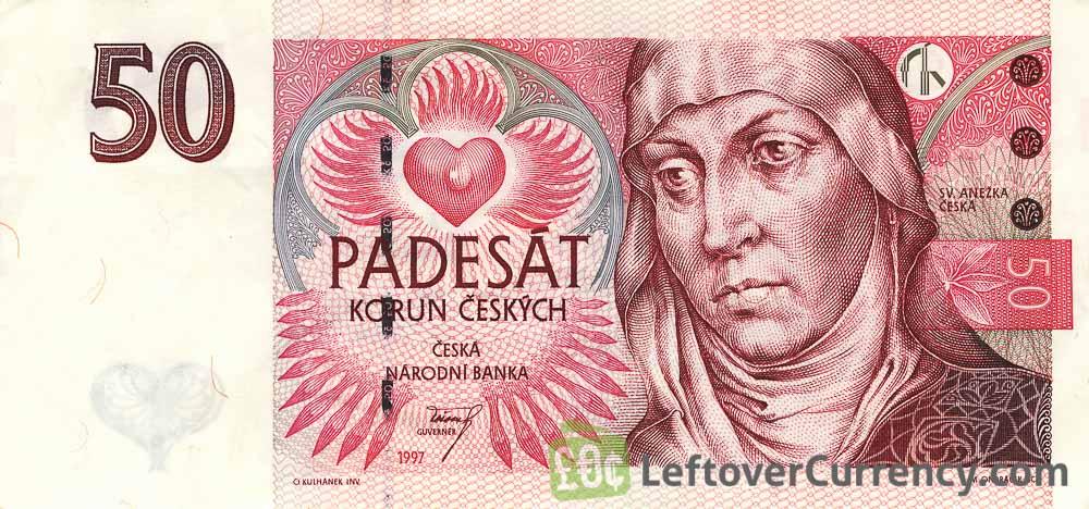 50 Czech Koruna banknote (St. Agnes of Bohemia)