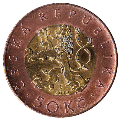 50 Czech Koruna coin