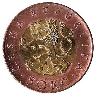 50 Czech Koruna coin