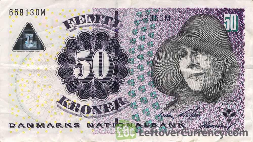 50 Danish Kroner banknote (Karen Blixen)