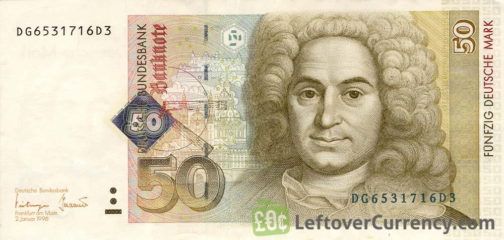 50 Deutsche Marks Banknote Balthasar Neumann