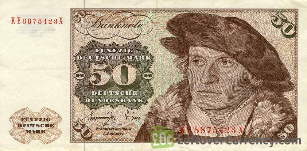 50 Deutsche Marks banknote (Holsten Tower Gate)