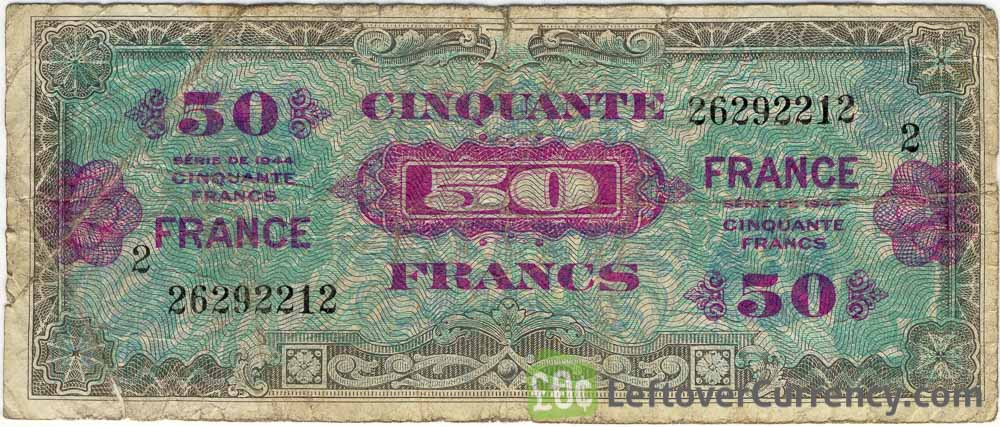 50 French Francs banknote (Allied Military Currency 1944)