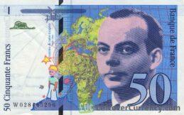 50 French Francs banknote (Antoine De Saint-Exupery)